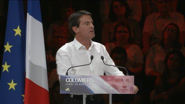 """""""Marianne a le sein nu, elle n'est pas voilée"""", déclare Manuel Valls"""