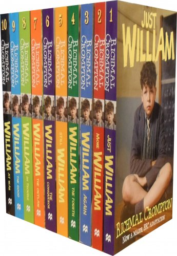 Just William Series 10 Books Set by Richmal Crompton. The story chronicles the mischievous adventures of a school boy William Brown.