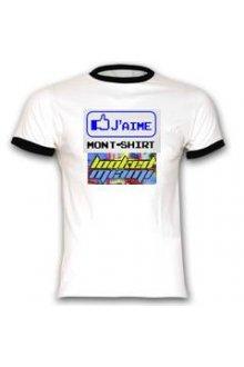 Teeshirt blanc PERSONNALISABLE avec logo - lOOked MIAMI