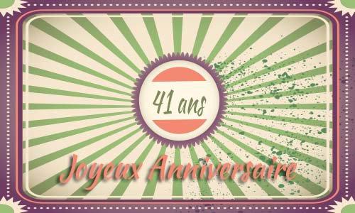 Carte anniversaire homme 41 ans fiesta