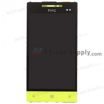 HTC 8S LCD Screen and Digitizer Assembly with Front Housing - Neon Yellow