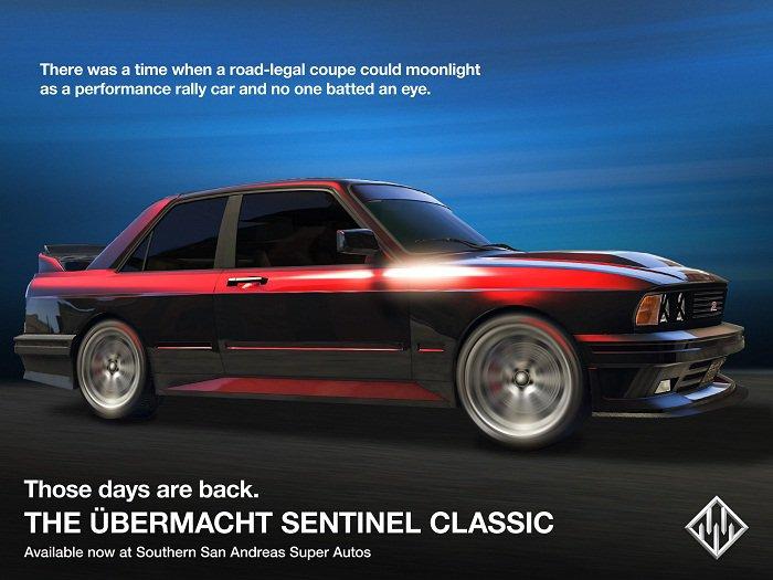 Festive Surprise 2017 est disponible sur GTA Online - L'Ubermacht Sentinel classique et le mode Prise d'opposition