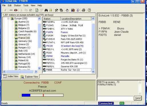 F1RFN- Site radioamateurs, SWL et amateurs de radio. EchoLink.