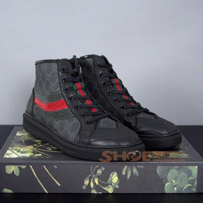 大人気再登场の2017夏ブランドコピー靴热烈推荐人気上升中,偽物Gucciブランドコピーメンズ 靴本物と同じ素材を選択しますNO.25778♪♫ハイカット靴