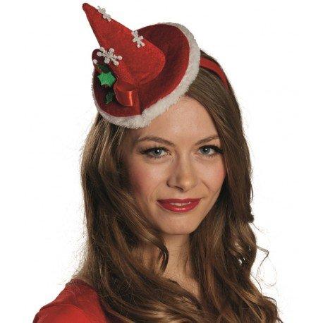 Mini chapeau Mère Noël femme : achat chapeaux de Noël