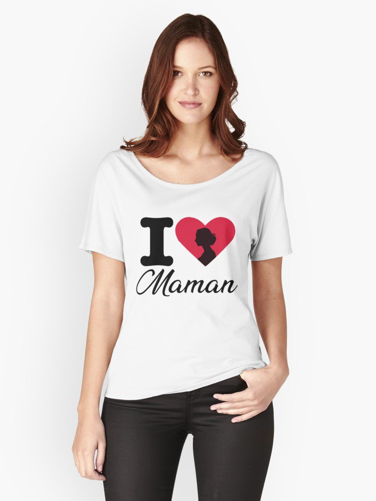 'Maman' T-shirts coupe relax by Ali-87