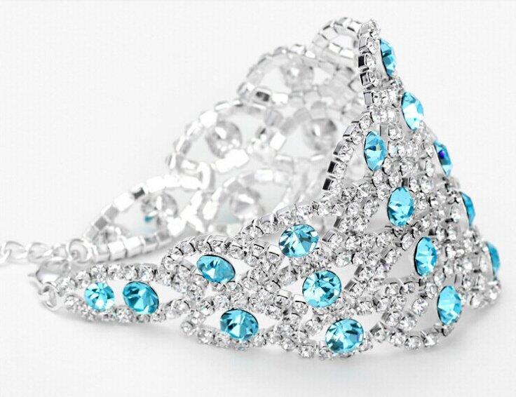 Sterling silver 925 zircon femme bracelet 17.0cm+6.0cm