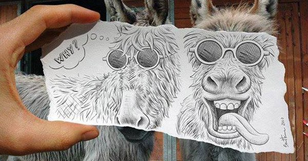 Le merveilleux concept Pencil Vs Camera by Ben Heine