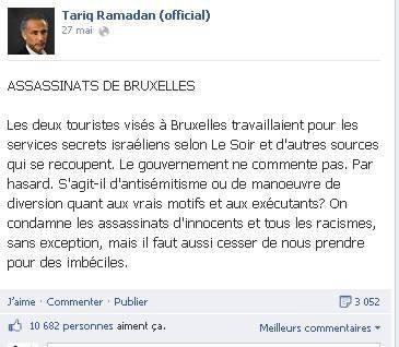 Quand l'infâme complotiste Tariq Ramadan divague sur Facebook à propos de l'affaire Mehdi Nemmouche - Last night in Orient