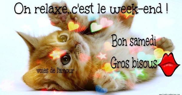 On relaxe... c'est le week-end ! Bon samedi