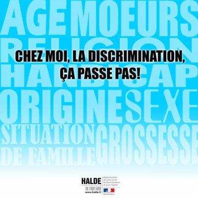 La discrimination ca passe pas !