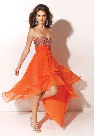 Chiffon Strapless Sweetheart A-Line Short Prom Dress - Prom - Fashionweddingdress.co.uk