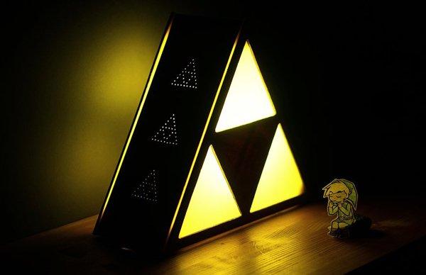 """Make Your Own """"Legend Of Zelda"""" Triforce Lamp [DIY]"""