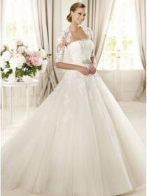 ec2538fd billige brudekjoler|Billig brudekjole chiffon og blonder stropløs  halsudskæring kjole bryllup aftagelig blonde bluse_billige brudekjoler  online shop