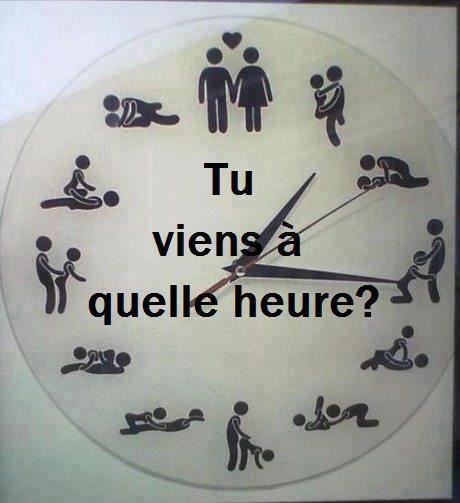 Tu viens à quelle heure ? ^^