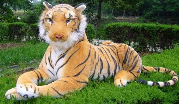 """L""""effrayant tigre était juste une énorme peluche !"""