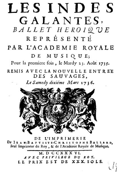 """Les Indes Galantes"" - Jean-Philippe Rameau, danse des sauvages - Last night in Orient"