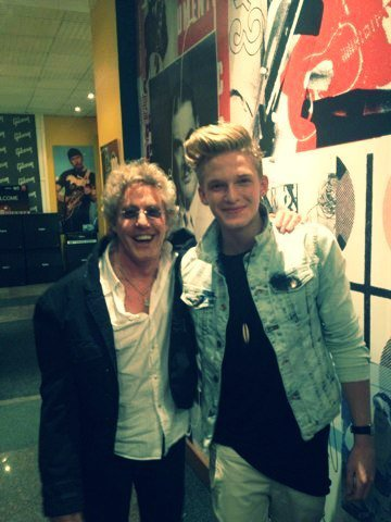 The legend Roger Daltrey from 'The Who' trying to mess up my hair after our interview
