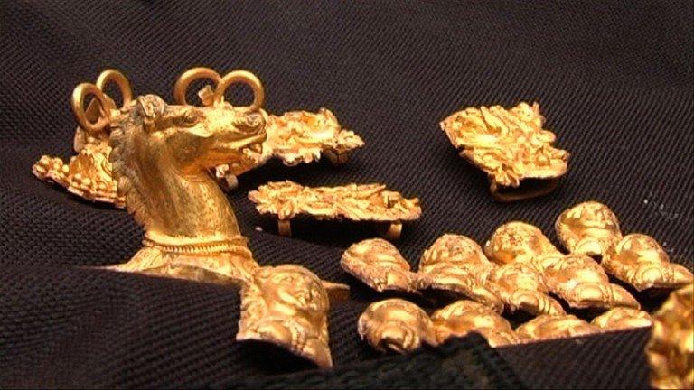 Un trésor  en or découvert en Bulgarie