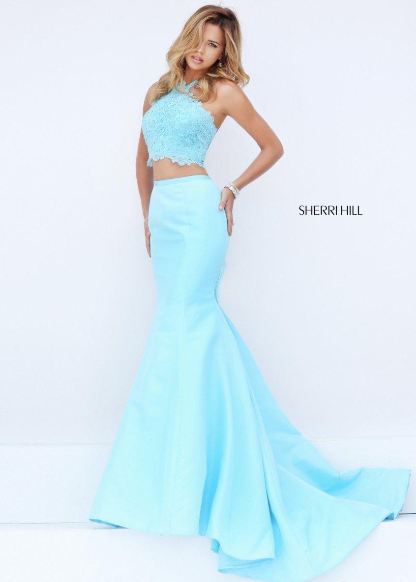 Cheap Sherri Hill 50229 Lovely Jeweled Illusion Ball Gown [sherri ...