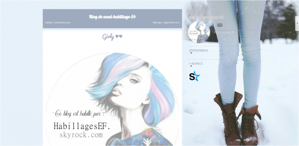 Habillage n°75 : Hiver + Girly