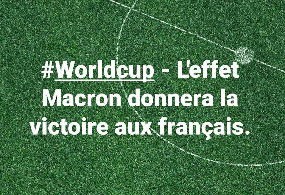 #Worldcup - L'effet Macron donnera la victoire aux français.