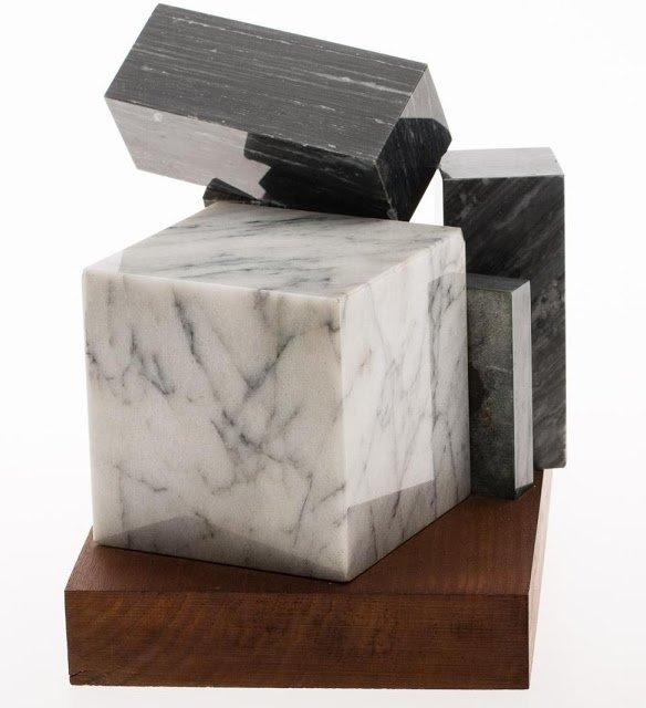 Exposition Art Blog: Philip Pavia - black-and-white sculptures