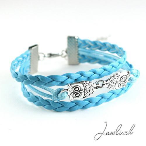 Eulen Armband blau — kaufen Schmuck online kostenlos Versand
