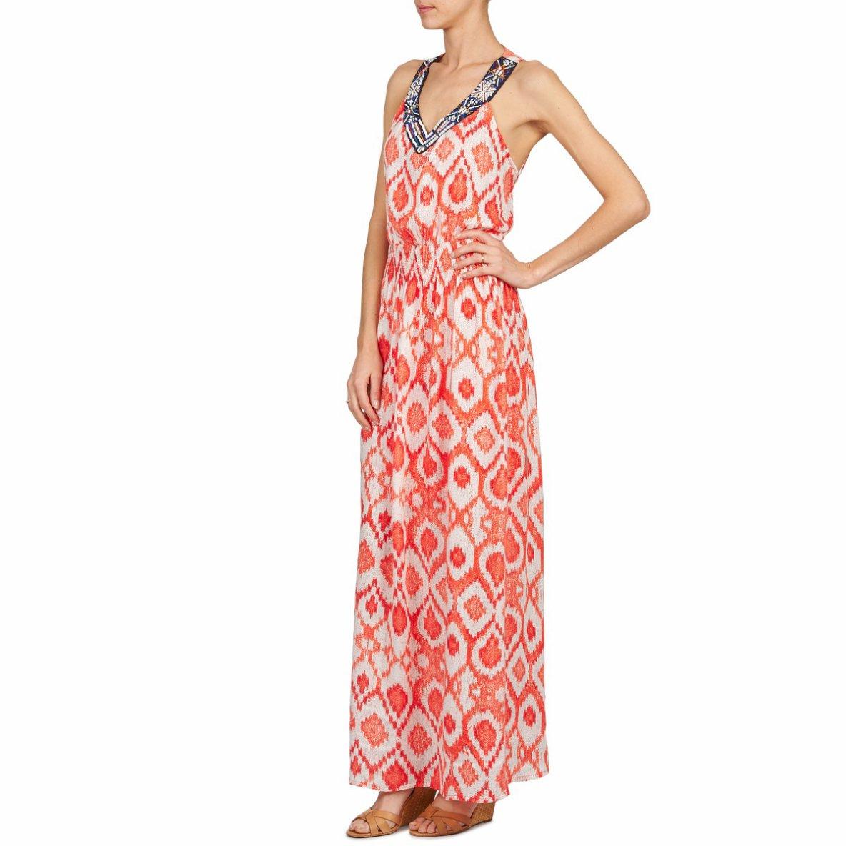 robe longue desigual maisa rouge robe femme desigual spartoo tendance mode femme. Black Bedroom Furniture Sets. Home Design Ideas