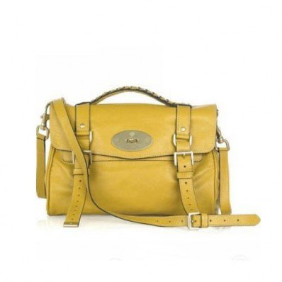 Quintessential Mulberry Alexa Bag Soft Buffalo Yellow With Good Quality