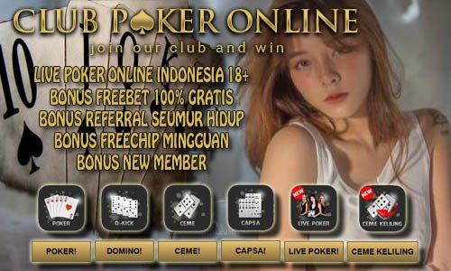 Main Judi Poker Uang Asli Online Gratis Tanpa Modal Deposit