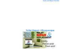Toilet Repair Albuquerque