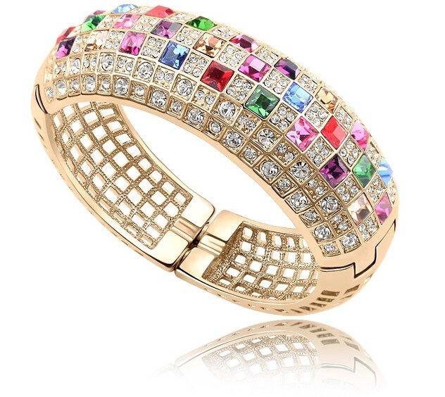 Couleurs Cristal zircon queen femme bracelet