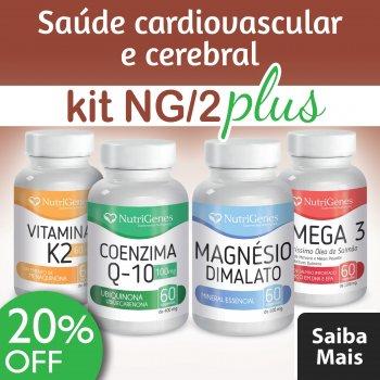 Vitamina K2 + Coenzima Q-10 + Magn?sio Dimalato + ?mega 3 || NutriGenes