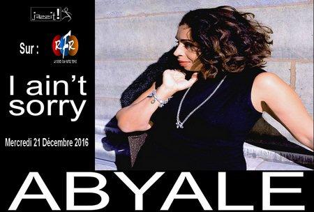 La chanteuse Abyale en Décembre sur Radio RFR en direct