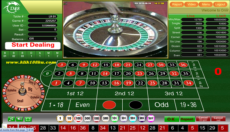 Permainan Casino Online Roulette Sbobet Terpercaya