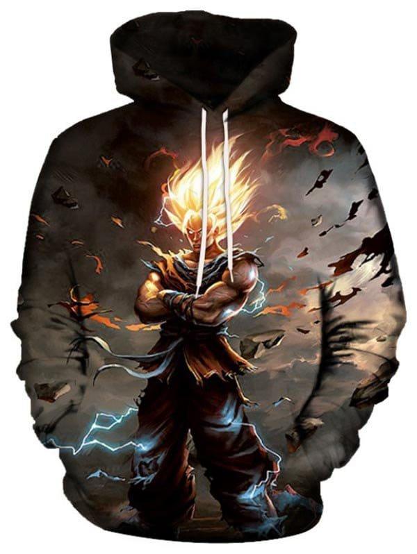 Drawstring Pullover Hero Print Hoodie