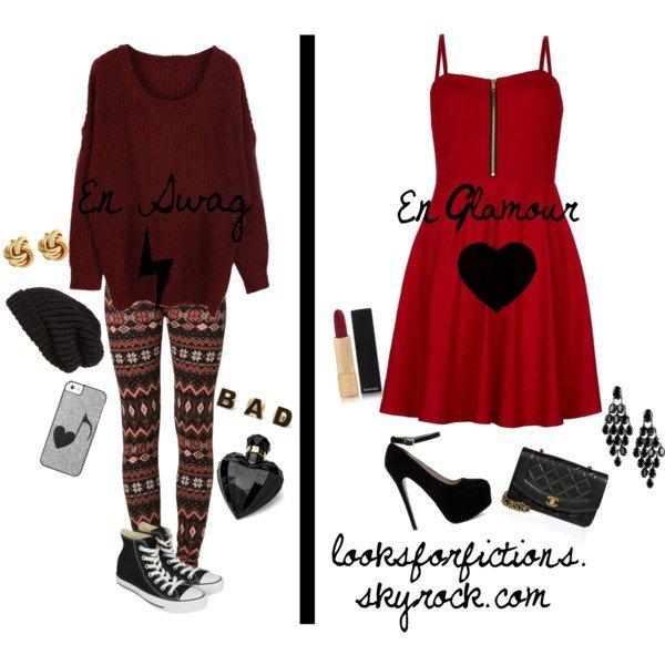 Adopter le rouge en deux styles différents ! ♥