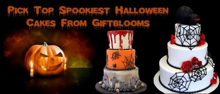 Giftblooms: Pick Top Spookiest Halloween Cakes From Giftblooms