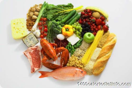 1400 calorie diet info