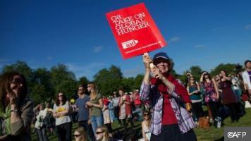 Londres: des milliers de personnes contre la faim dans le monde - actualités voila