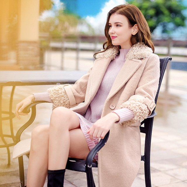 2017 Women's winter trench new Ladies wool coat fashion solid color lapel Woolen Coat female long coats -in Wool & Blends from Women's Clothing & Accessories on Aliexpress.com | Alibaba Group