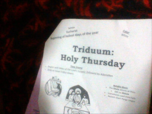Cross Castle1982: Adventures in RCIA - The Church Calender: The Triduum