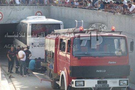 Ariana: quinze blessés dans l'accident d'un bus à Enkhilet