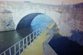 Enfin passer à vélo sous le pont de Jambes