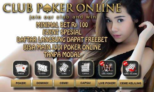 Live Dealer Poker Online Indonesia Minimal Bet Chip Rp 100