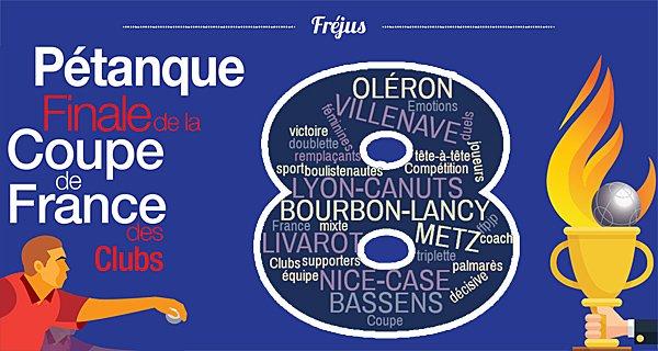 Le Grand huit s'affiche ! - Coupe de France des Clubs de pétanque - ARTICLES sur la pétanque