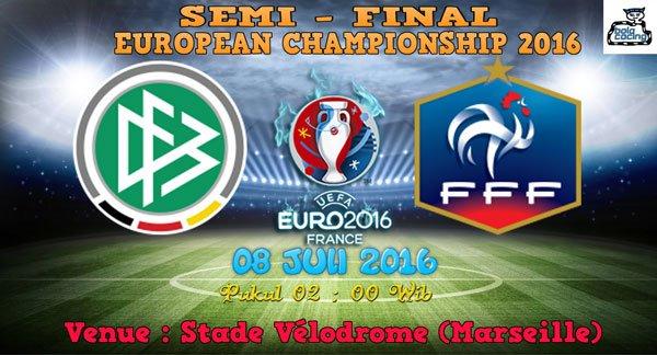 Prediksi GERMANY vs FRANCE 08 Juli 2016