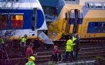 Collision frontale entre deux trains à Amsterdam: 13 personnes très grièvement blessées