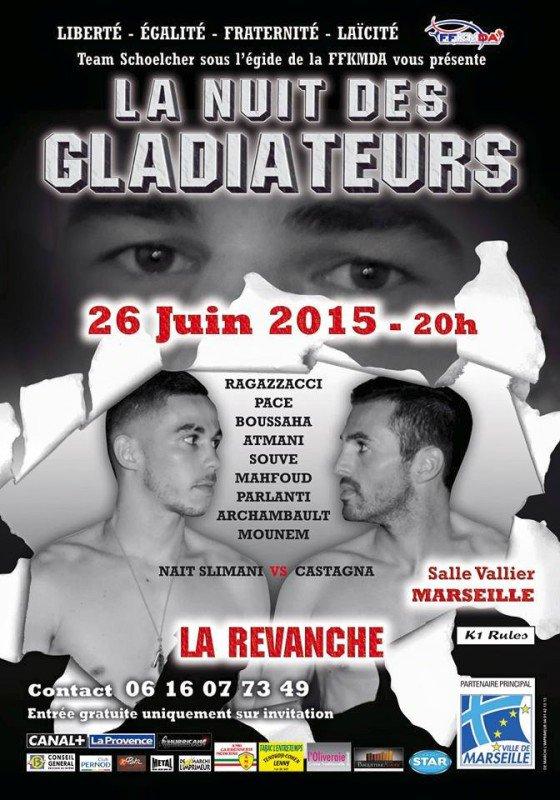 Castagna – Nait Slimani 2 à La Nuit Des Gladiateurs | Les Infos du FightLes Infos du Fight